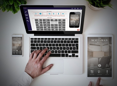 Criton Homepage with Scotsman Hotel App