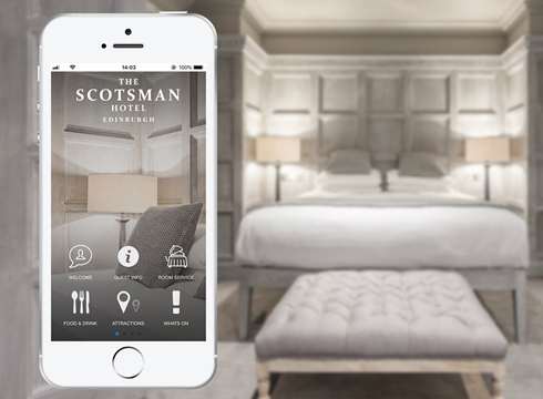 Scotsman Hotel App and Hotel Room View