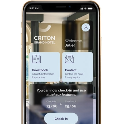 Mobile check in for hotels