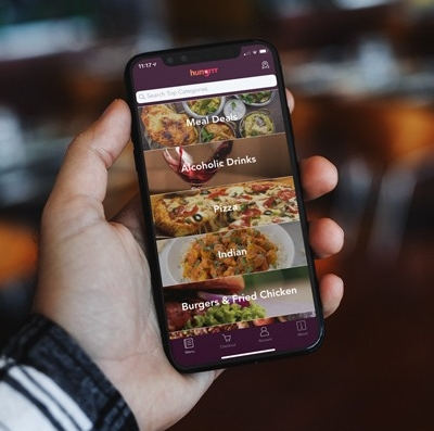 Food ordering for hotels